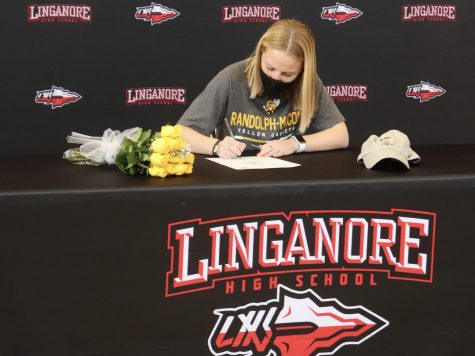 Sammie Hoefs signs her National Letter of Intent to play soccer at Randolph-Macon College.