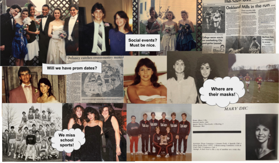 A photo collage of our parents, class of 1985, 86, 89, and 92 in high school!