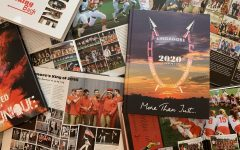 The Rajnik family's collections of yearbooks from 2014 to 2020.