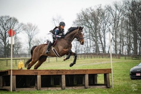 Montgomery County student Raegan Nalls and her horse Are you Ready Freddy practice for the eventing team.