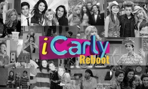 A collage of some of the best moments of the show, iCarly.