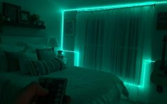 Alyssa Pizer uses the popular LED lights to give her bedroom a glow.