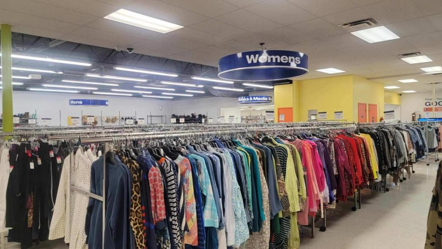 Platos Closet in downtown Frederick provides people with racks on racks of clothing. Allowing anyone to find their specific style or express their creativity.