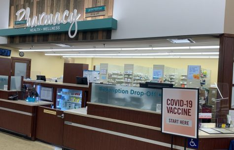 The pharmacy at Safeway in Mount Airy, Covid-19 vaccination area.