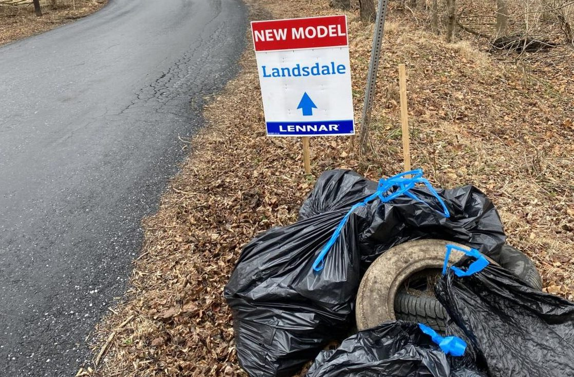 Making a dash to clean up trash: Landsdale Community adopts Ed McClain Road