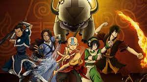 A picture containing the main protagonists of Avatar the Last Airbender, Aang, Katara, Sokka, Toph, and Zuko