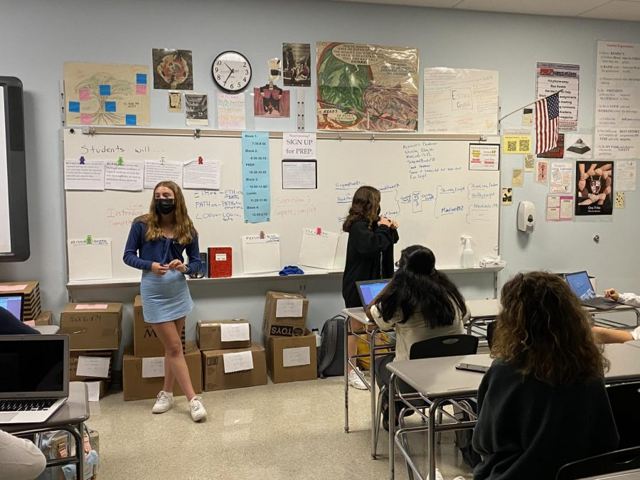 Fashion club has their first in-person meeting since 2019 with President Maeve Smarick and Vice President Emma Watkins.