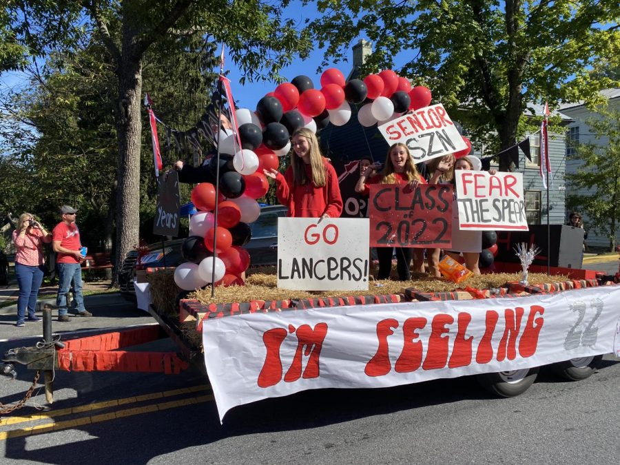 What comes to mind when you think of Homecoming? For the Linganore and New Market Community they think of long lasting traditions, memories and family. The Senior Class of 2022  is next to leave the Linganore nest. Waving to friends and family during their last Homecoming Parade, Ellie Breidenstein, Maeve Smarick and Emma Watkins find it all bittersweet,  I remember as a Freshmen everyone would tell us High School would fly by, I never believed them until now. Linganore will always hold a special place in my heart, itll be hard to leave the day of Graduation but I know I will always have a home here and for that Im grateful.  said Breidenstein.