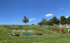 The hill painting is the first event in the celebration of homecoming week.